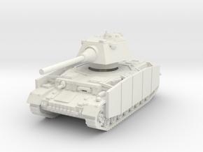 Panzer IV S (Schurzen) 1/76 in White Natural Versatile Plastic