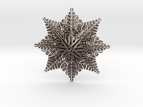 Brain Star in Polished Bronzed Silver Steel