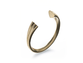 Heart Ring (slim) in Natural Brass: 7 / 54