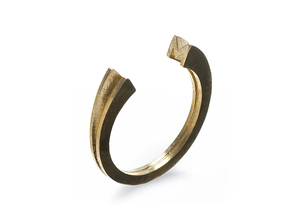 M Ring (slim) in Natural Brass: 7 / 54
