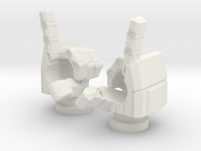 Spinister Finger Guns in White Natural Versatile Plastic