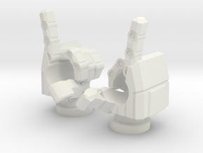 Spinister Finger Guns in White Natural Versatile Plastic