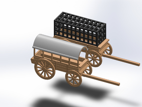 N PRISON WAGON, TRANSPORT WAGON in Smooth Fine Detail Plastic