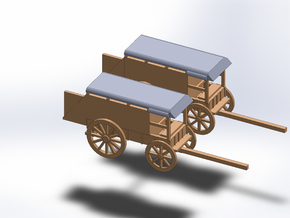 N TWO MEDICINE WAGON DEPLOYED in Smooth Fine Detail Plastic