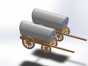 N TWO SUPPLY WAGON in Smooth Fine Detail Plastic