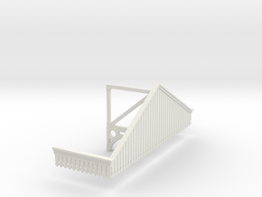 Platform Canopy Section 3 No Roof - 4mm Scale in White Natural Versatile Plastic