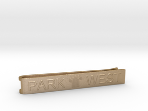 PARK WEST - Men Tie Clip 001 in Polished Gold Steel