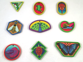 Animal Pendants Batch 01 in Natural Full Color Sandstone