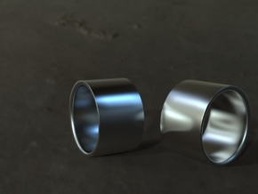 Classic 1.5cm Ring in Polished Grey Steel