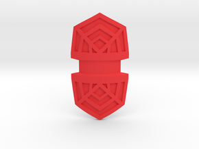 Shield Point in Red Processed Versatile Plastic