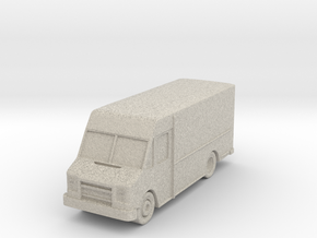 "Delivery Truck at 1""=10' Scale in Natural Sandstone"