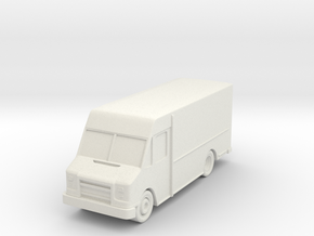 """Delivery Truck at 1""""=10' Scale in White Natural Versatile Plastic"""