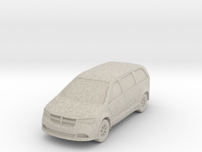"Minivan at 1""=10' Scale in Natural Sandstone"