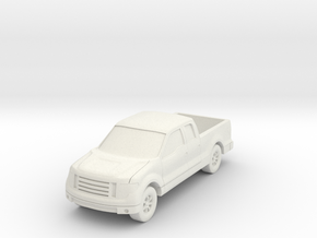 """Truck at 1""""=10' Scale in White Natural Versatile Plastic"""