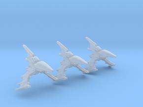 Eldar Navy Nightshade destroyer 3 mod./fleet scale in Smooth Fine Detail Plastic