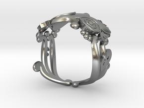 Carp Ring in Natural Silver