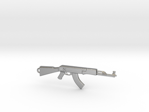 AK Pendant in Natural Silver