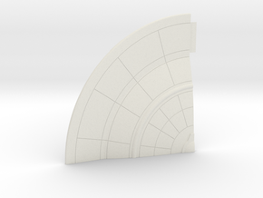 1/1400 Orion Class Left Front Lower Saucer in White Natural Versatile Plastic