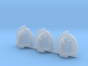 Chevrons Aggressive shoulder pads x3 L in Smooth Fine Detail Plastic