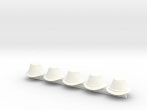 5 x Merchant  in White Processed Versatile Plastic