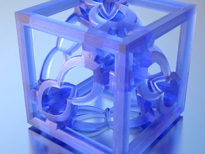 Cube Fractal RD8 in Transparent Acrylic