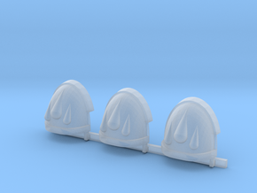Red Ángeles 3 drops Gravus shoulder pads x3 R #1 in Smooth Fine Detail Plastic