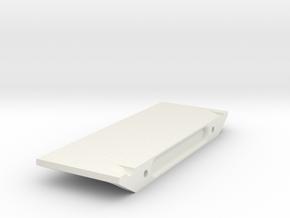 V1W: E-Plate or Battery Holder Right in White Natural Versatile Plastic