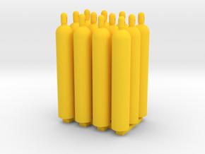 1:50 Gas Cylinders Pack of twelve  in Red Processed Versatile Plastic