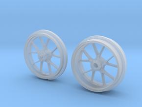 10 Spoke Motorcycle wheels in Smooth Fine Detail Plastic