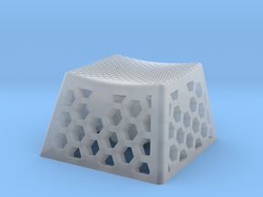 Textured Keycap Hexcut Pattern in Smoothest Fine Detail Plastic