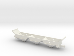 Z-Scale 3 Bay Hopper Underbody in White Natural Versatile Plastic