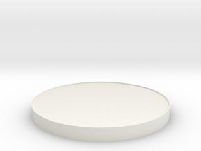120mm display base, fits Tamiya Dome J case in White Natural Versatile Plastic