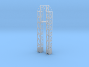 1/1000 Scale Launch Complex 34 Service Tower in Smooth Fine Detail Plastic