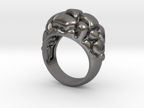 Man's Future Ring, Steel, with 573 code in Polished Nickel Steel