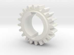 "20T Atlas/Craftsman 12"" lathe Change Gear in White Natural Versatile Plastic"