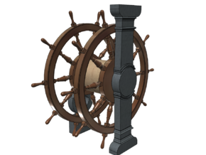 1/84 Ship's Wheel (Helm) for Ships-of-the-Line in Smoothest Fine Detail Plastic