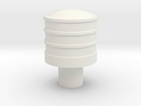 leather buffer 7mm scale in White Natural Versatile Plastic