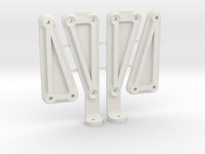 Enduro Braces w Interior Mount in White Natural Versatile Plastic
