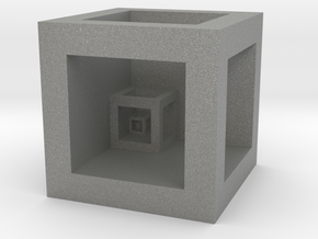 """Cube """"Scale"""" in Gray PA12"""