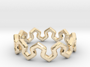 Crown Ring _ B in 14k Gold Plated Brass: 8 / 56.75