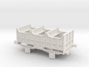 00 Scale Liverpool & Manchester Railway 2nd Coach  in White Natural Versatile Plastic