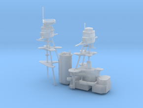 1/700 USS Oklahoma (1941) Superstructure in Smooth Fine Detail Plastic