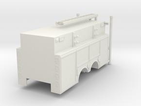 1/87 Rosenbauer Pumper Tanker Body UPDATED in White Natural Versatile Plastic