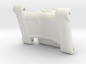 Associated B6 / B6D Wheelie Bar Mount in White Natural Versatile Plastic