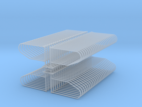 1/64 100 Single post freestall Loops  in Smooth Fine Detail Plastic