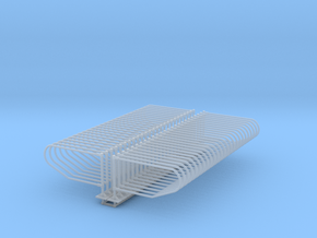 1/64 50 Single Post Freestall loops  in Smooth Fine Detail Plastic