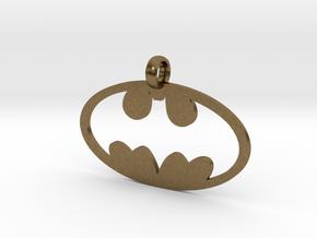 Batman necklace charm in Natural Bronze
