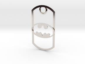 Batman dog tag in Platinum