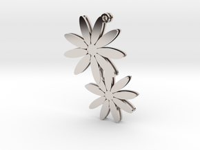 Daisy earrings - 1 pair in Platinum
