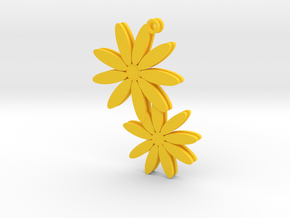 Daisy earrings - 1 pair in Yellow Strong & Flexible Polished